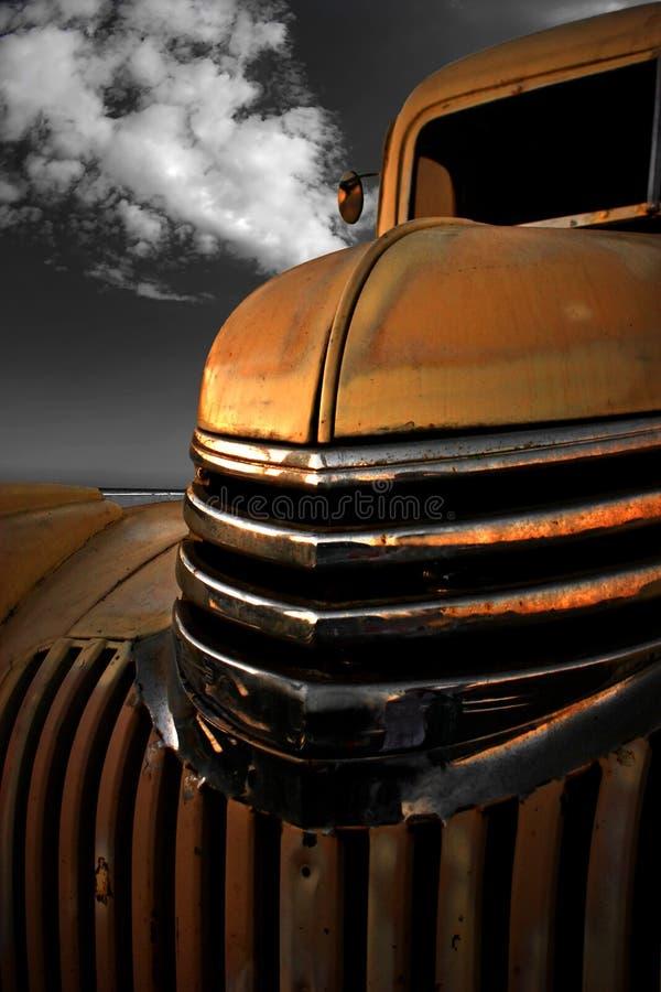 Vintage Roadster. A Menacing Grin stock photo