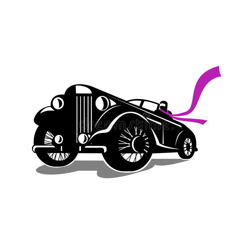 Vintage Roadster Scarf Retro stock illustration