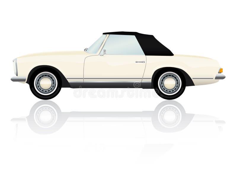 Vintage Roadster Vector Illustration royalty free illustration