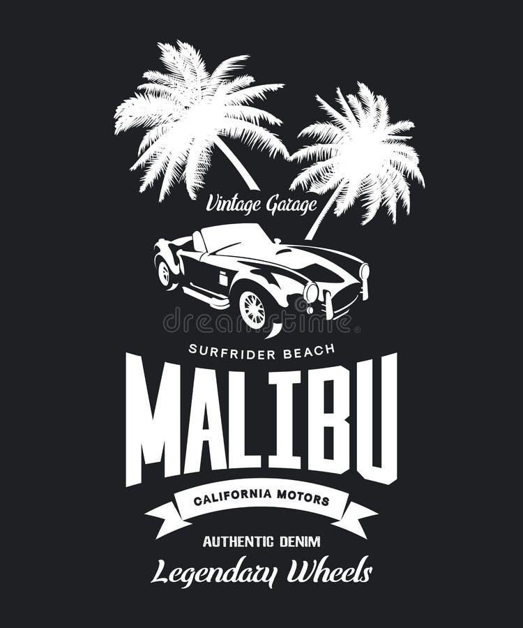 Vintage roadster vehicle vector logo isolated on dark background. royalty free illustration
