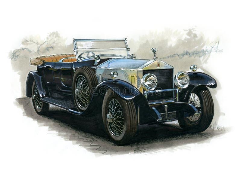 Vintage Rolls Royce royalty free illustration