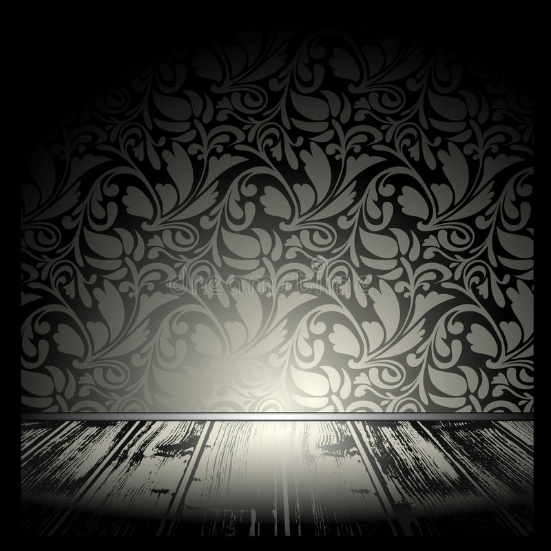 Download Vintage room stock vector. Image of indoor, wall, architecture - 11932193