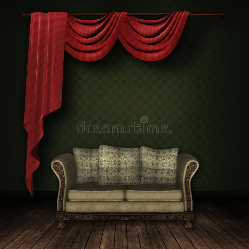 Download Vintage room stock illustration. Image of room, yellow - 20913940