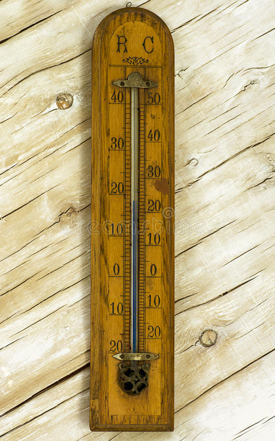 Free Vintage Room Thermometer On The Background Stock Photos - 66577723