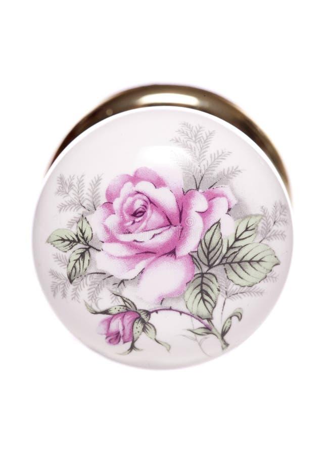 Vintage rose door knob stock photo. Image of floral, cutout - 42332444