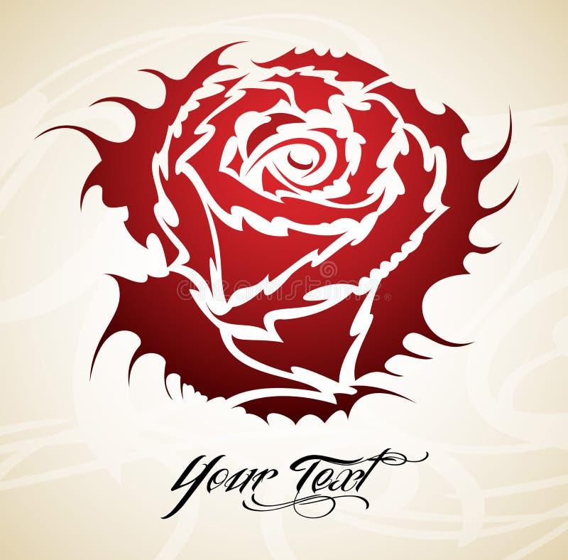 Vintage Rose Tribal Royalty Free Stock Image