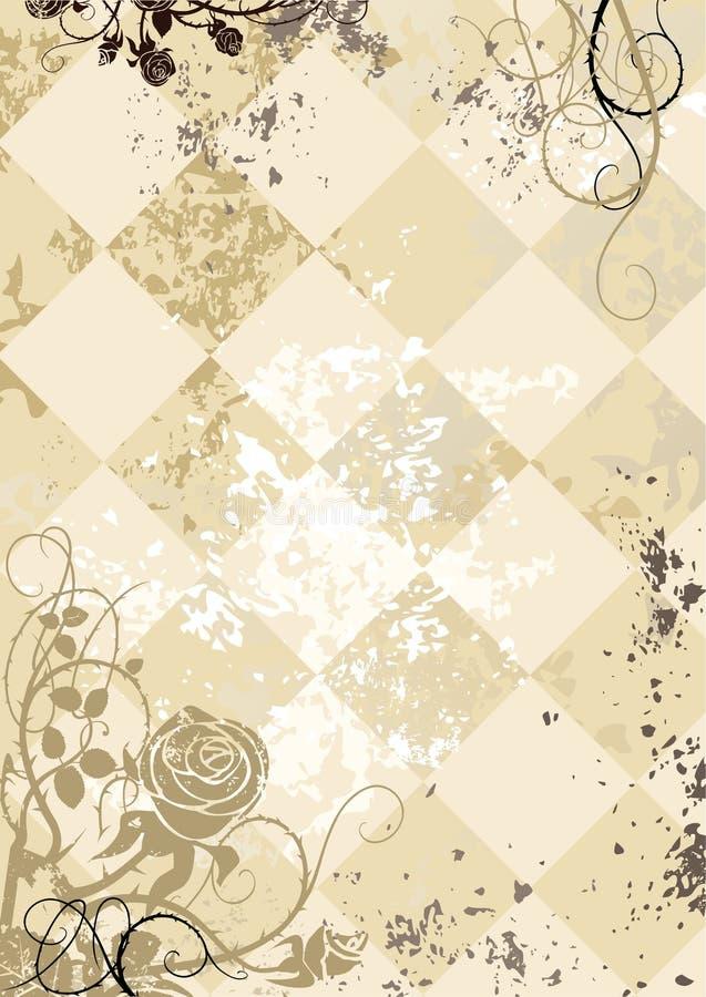Free Vintage Roses On Squared Grunge Background Stock Image - 7509811