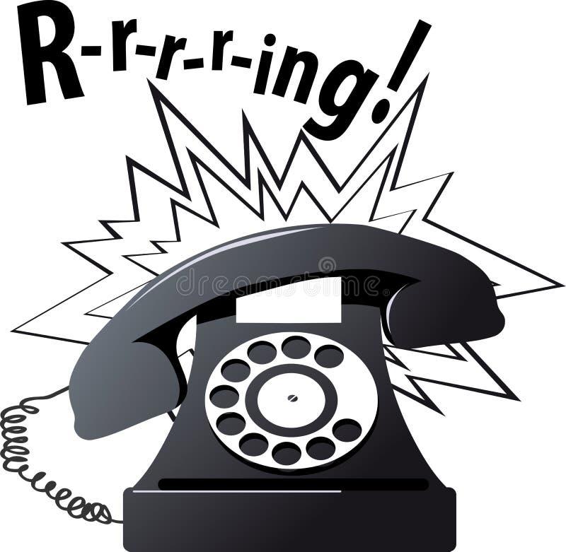 Clip-art of a vintage telephone ringing stock illustration