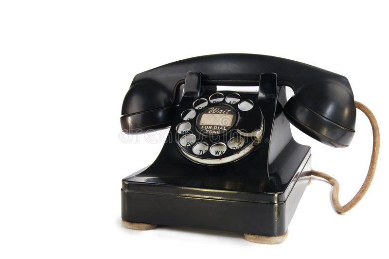 Download Vintage Rotary Phone stock photo. Image of letters, dial - 1841008