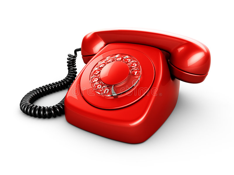 Vintage rotary phone royalty free illustration