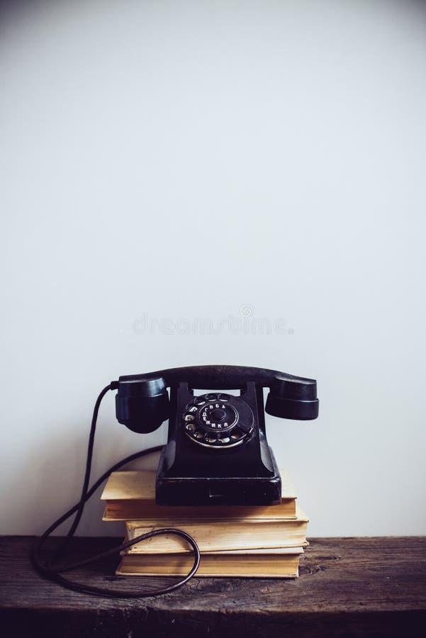 Vintage rotary phone stock image