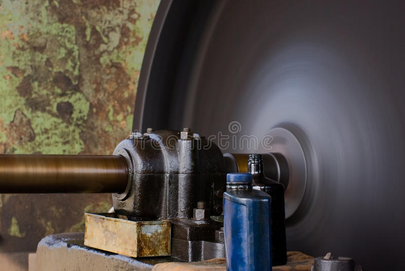 Download Vintage Rotating Flywheel stock photo. Image of machinery - 10347286