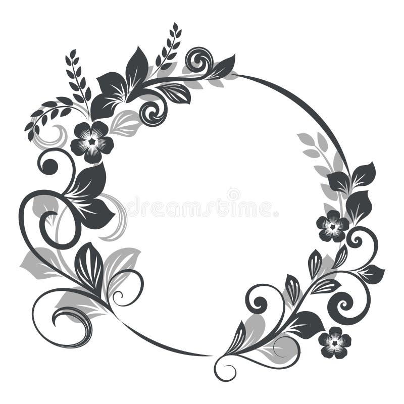 Download Vintage Round Floral Frame Stock Vector Illustration Of Oriental