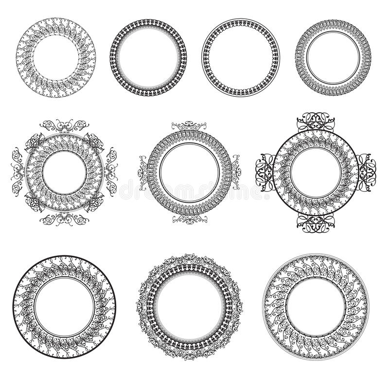 Round Frame Set royalty free illustration