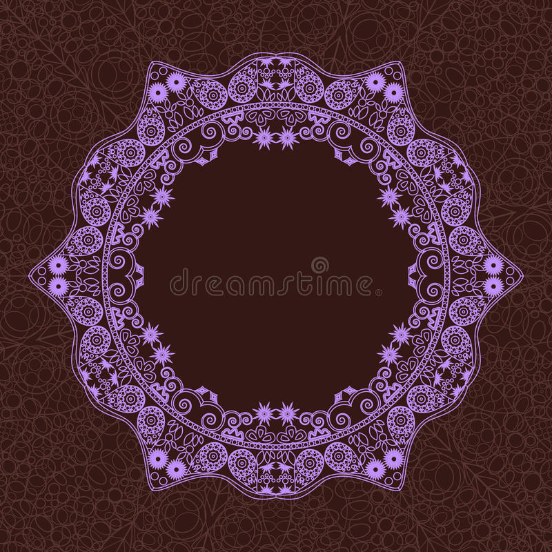 Download Vintage Round Lace Frame stock vector. Image of circle - 24051010