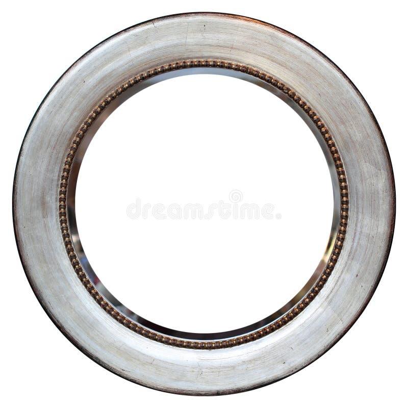 Vintage Round Metallized Frame royalty free stock photo