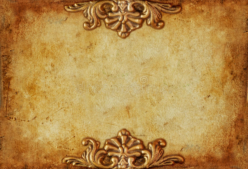 Vintage Royal Gold Horizontal Background With Floral ...