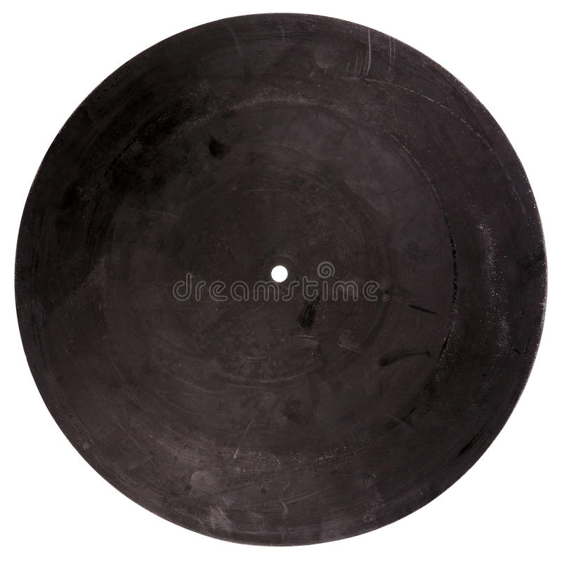 Vintage rubber turntable platter mat back. Isolated on white background royalty free stock photos