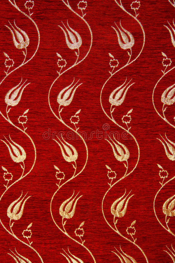 Vintage ruby ottoman fabric detail stock images