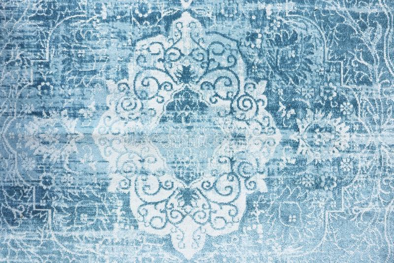 Vintage rug blue eastern texture royalty free stock images
