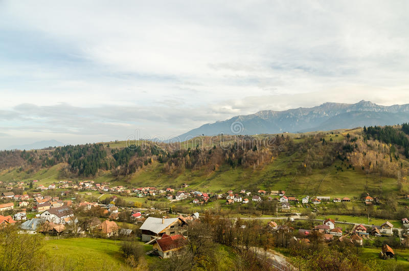 Vintage Rural Village In The Carpathian Mountains royalty free stock photos