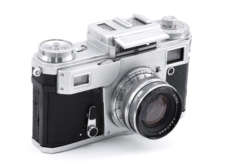 Vintage Russian analog photo camera stock images