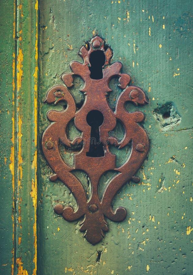 Vintage Rustic Keyhole Decoration royalty free stock images