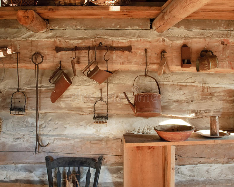 Download Vintage Rustic Kitchen, Circa 1800s Stock Photo   Image Of Kitchen,  Rustic: