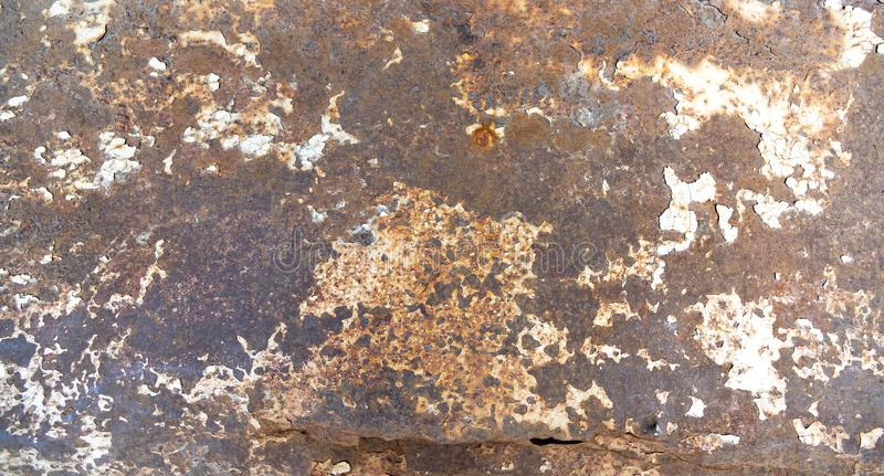 Vintage rusty crumpled sheet metal with corrosion. Vintage surface rusty crumpled sheet metal with corrosion stock photos