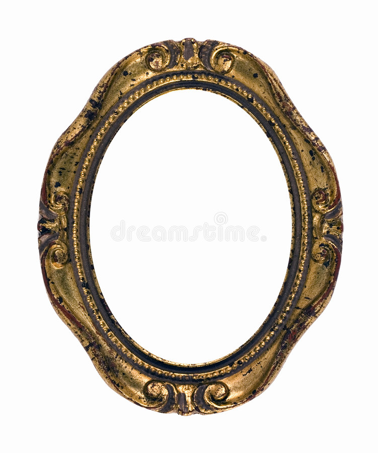 Download Vintage Rusty Gold Oval Frame Stock Image - Image: 4693345