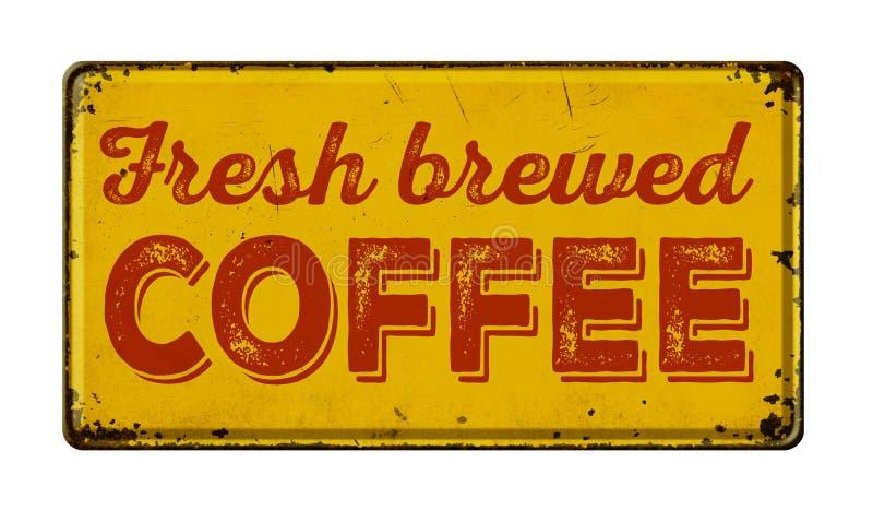 Fresh brewed coffee stock image