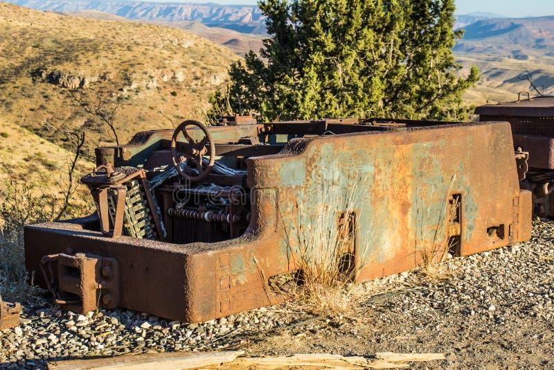 Vintage Rusty Mining Operations Carrier imagen de archivo libre de regalías