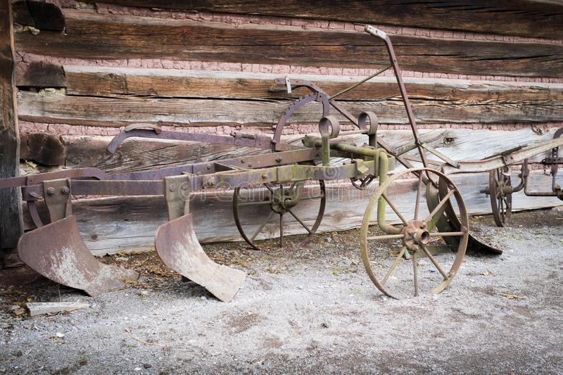 Vintage rusty old plow royalty free stock photos