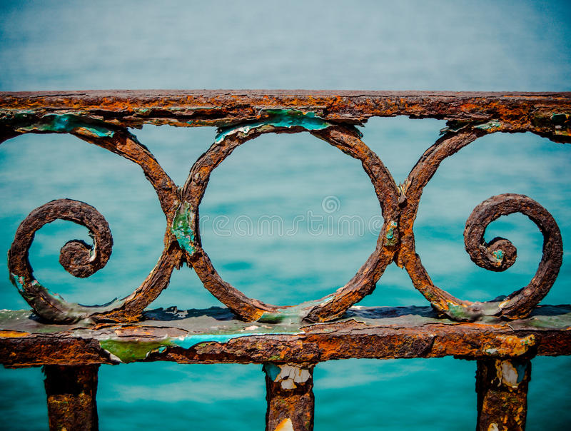 Vintage Rusty Railings fotos de archivo