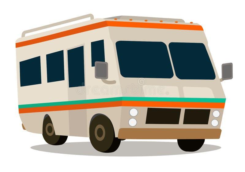Vintage RV camper stock illustration