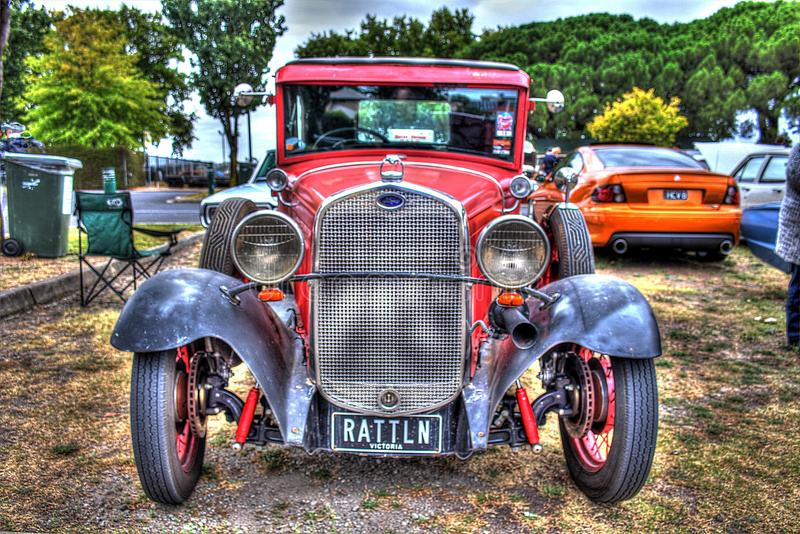 Vintage 1930s American Ford model A stock photography