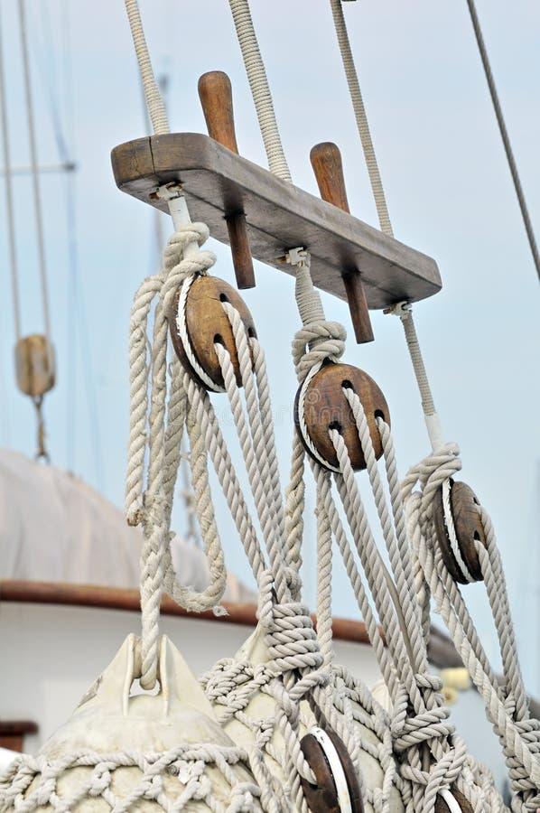 Vintage sailboat detail stock images