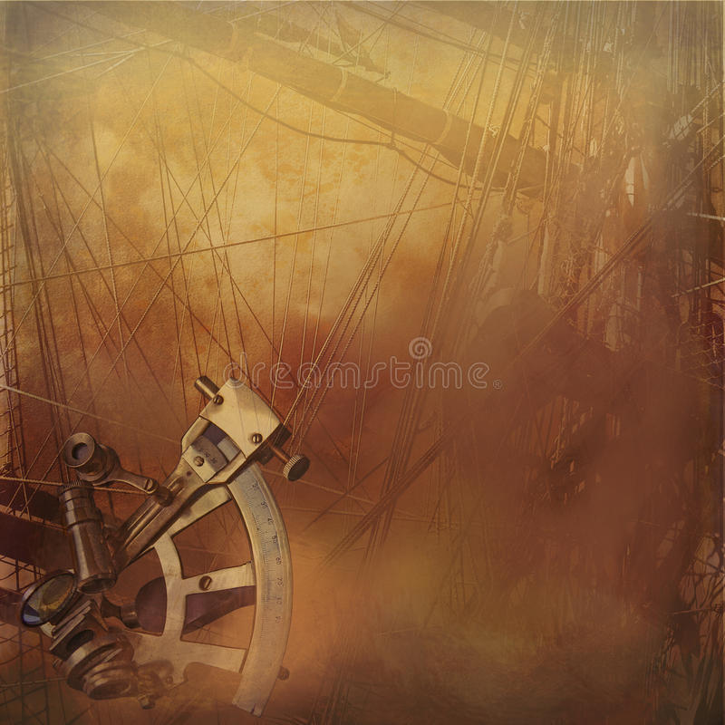 Download Vintage Sailship Background Stock Illustration - Image: 21997790