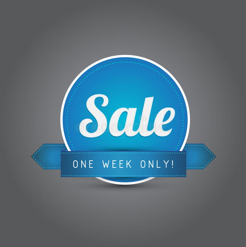 Download Vintage Sale Ribbon Blue Royalty Free Stock Photography - Image: 25176407