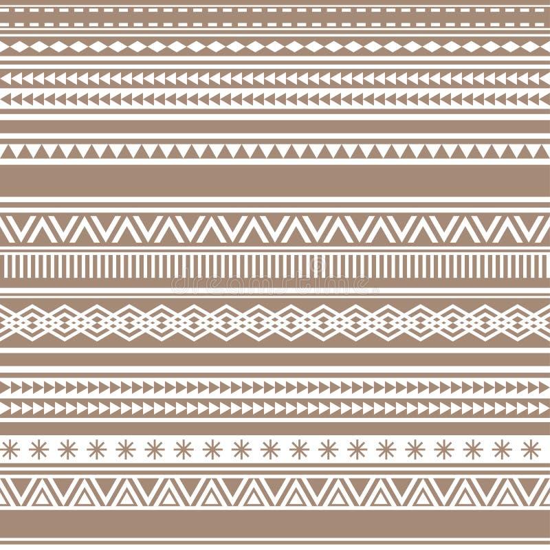 Vintage sans couture géométrique de cacao de brun de modèle illustration de vecteur