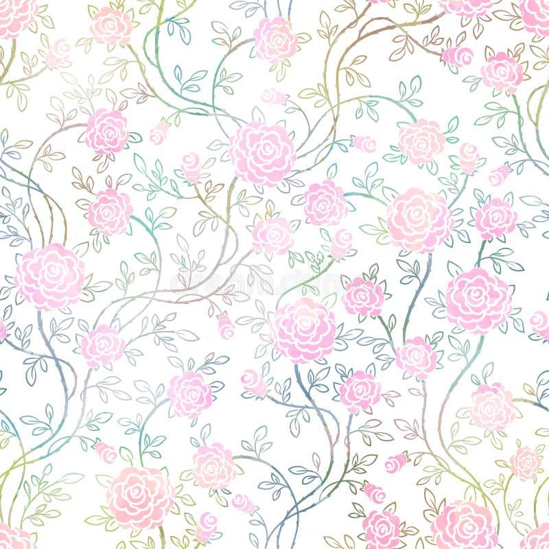 Vintage sans couture Rose Pattern, vecteur, EPS10 illustration stock