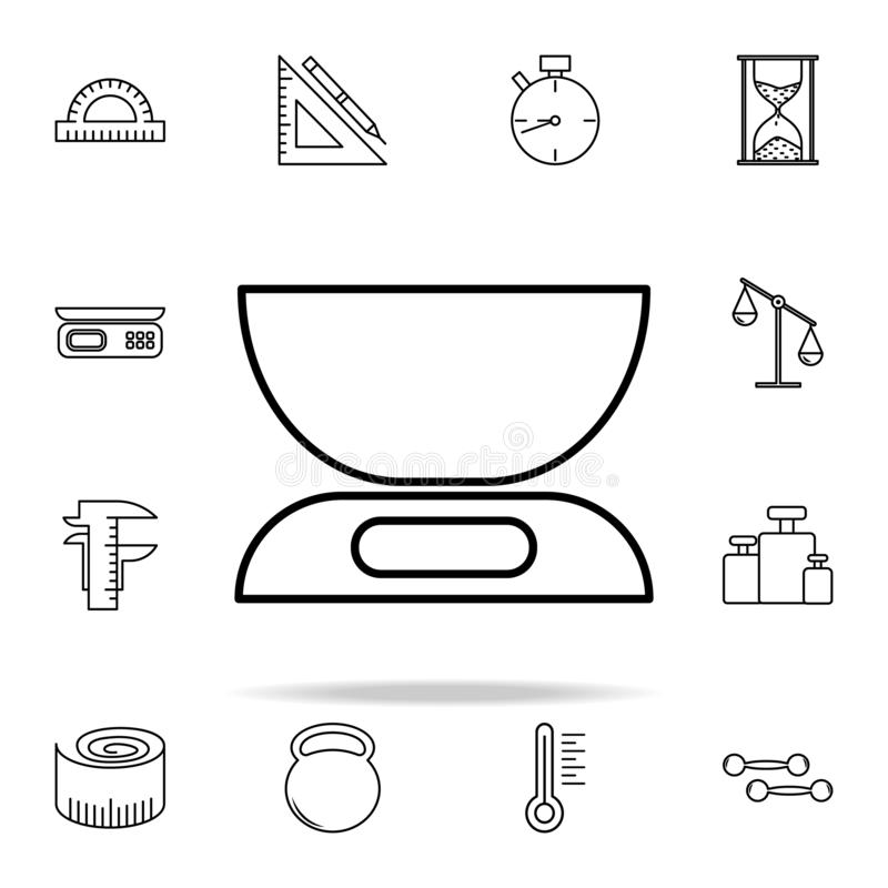 vintage scales icon. Measuring Instruments icons universal set for web and mobile royalty free illustration