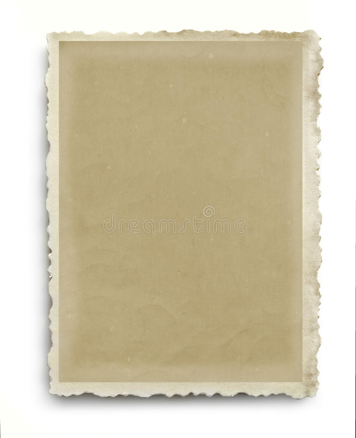 Vintage Scalloped Photo Frame Isolated stock images