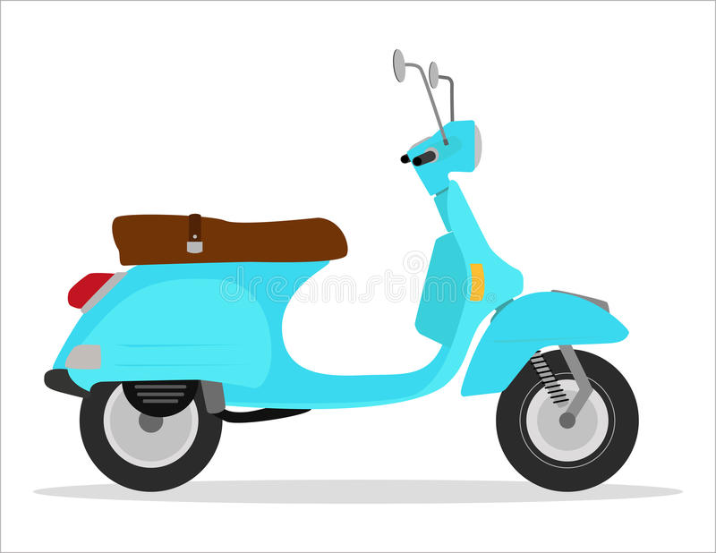 Download Vintage scooter stock vector. Image of italy, model, color - 25582019
