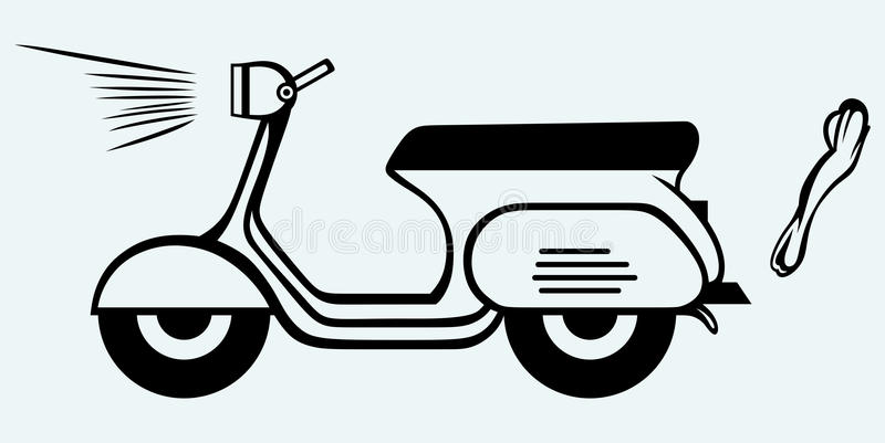 Download Vintage scooter stock vector. Image of image, background - 37859144