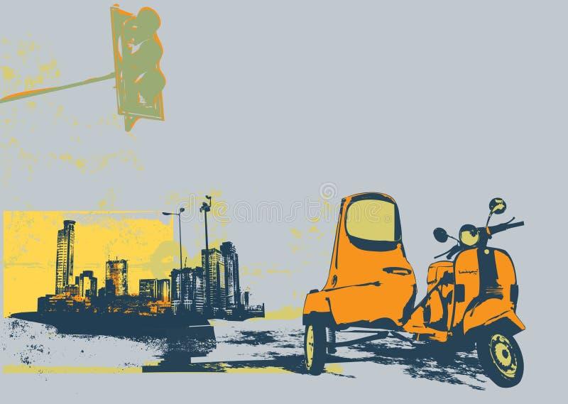Vintage scooter stock illustration