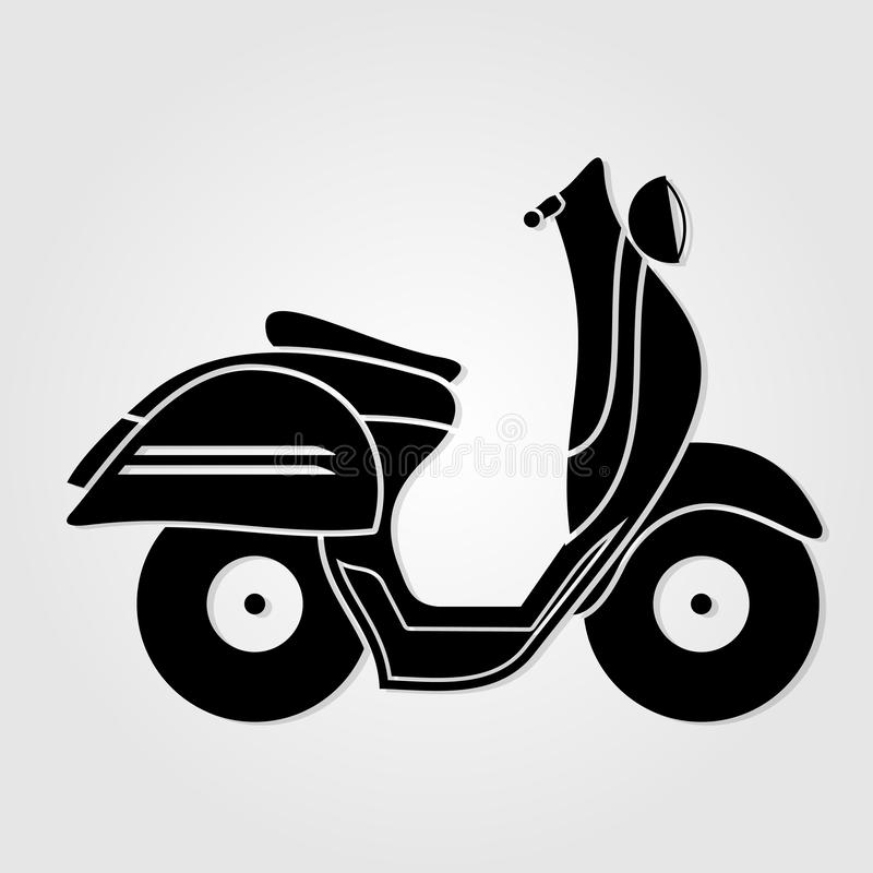 Vintage scooter icon isolated on white background. Vector illustration.  vector illustration