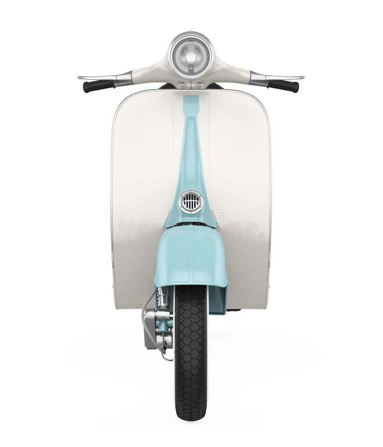Vintage Scooter Motorcycle Isolated stock illustration