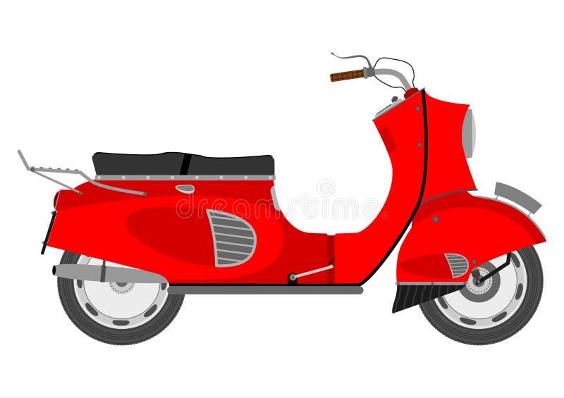 Download Vintage scooter stock vector. Image of motorbike, bike - 32917331