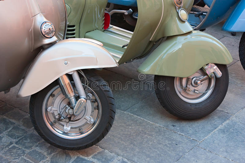 Download Vintage scooter wheels editorial photo. Image of fashioned - 21850861